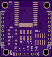 https://oshpark com/shared_projects/1RUzmdgQ ESP8266 Breakout
